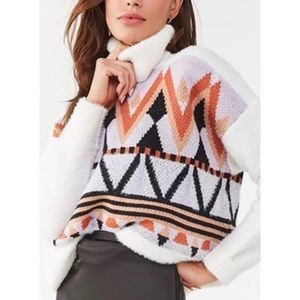3 for $13! NWT Forever 21 Aztec Geo Sweater Sz L